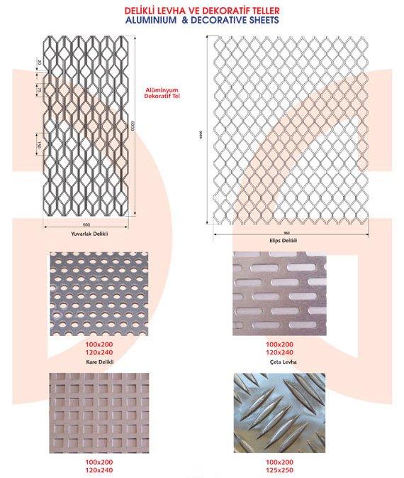 Okov - Aluminijum - Utkan STAR  Aluminium & Decorative Sheets