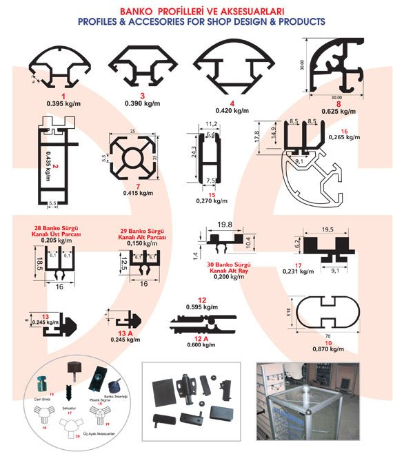 Okov - Aluminijum - Utkan STAR   Profiles & Accesories For Shop Design & Products